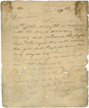 Letter from Robert Caller in Washington (capital of the Mississippi Territory), to his father,...
