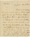 Letter from William O. Winston in Nashville, to James Caller on the Tombigbee River in the...