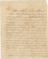 Letter from Richard Blount to Major Charles Lewis in Bellefonte, Alabama.