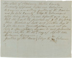 Affidavit by Eliza H. Coleman of Butler County, Alabama, requesting to purchase three bushels of...