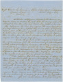 Letter from F. S. Blount, chief agent of impressment, to Captain Charles E. Sherman in Mobile,...