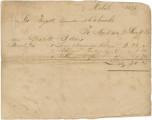 Receipt for items bought from Jackson & Swift of Mobile by the Lafayette Committee in...