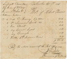 Voucher for money owned to Robert Travers of Cahaba by the Lafayette Committee.