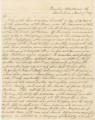 Letter from Governor Clement C. Clay in Tuscaloosa, Alabama, to Secretary of War J. R. Poinsett in...