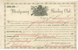 Promissory note from the Montgomery Shooting Club, pledging to pay John G. Crommelin, Jr., $100...