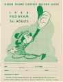 """Green Thumb Contest Record Book: 1944 Program for Adults,"" by the National Victory..."