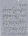 Letter from Hubert Dent at Fort Barrancas in Pensacola, Florida, to his wife, Anna, in Eufaula,...