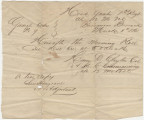 """True copy"" of a general order from Colonel Henry D. Clayton at Fort Barrancas in..."