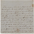 "Incomplete letter from Anna (""Nan"") Dent to her husband, Hubert."