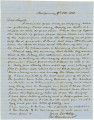 Letter from George Goldthwaite in Montgomery, Alabama, to Captain Henry Semple.