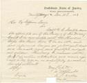 Handwritten copy of a letter from A. J. Walker in Montgomery, Alabama, to President Jefferson...