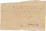 Two handwritten copies of a statement about the condition of railroad cars received from the...