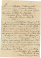 Handwritten copy of a letter from Major Edward B. Smith of the Confederate States Ordnance Bureau...