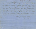 Handwritten copy of a contract between Lieutenant Colonel Minor Meriwether and Samuel G. Jones,...