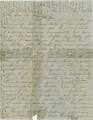 Letters from Mary Ann Hall in Providence, Alabama, to her son, Edward, probably in Connecticut or...