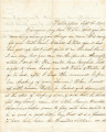 Letter from Helen Kirtland in Wallingford, Connecticut, to her son, Willie, probably at a boarding...