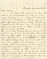 Letter from Crenshaw Hall at Sangster's Crossroads in Virginia, to his father, Bolling, in Alabama.