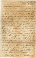 Letter from Bolling Hall, Jr., in Union Mills, Virginia, to his father in Alabama.