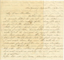 Letter from Laura Hall in Montgomery, Alabama, to her brother Bolling Hall, Jr.