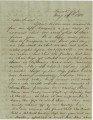 Letter from Bolling Hall, Jr., at the Cumberland Gap, to his sister, Laura, in Alabama.