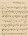 "Letter from Crenshaw Hall near Richmond, Virginia, to his sister, Laura (""Lol""), in..."