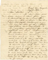 Letter from Bolling Hall, Jr., in camp near Knoxville, Tennessee, to his sister, Mary Louisa, in...