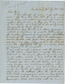 Letter from Crenshaw Hall at the Cumberland Gap in Kentucky, to his sister, Mary Louisa, in...