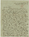 Incomplete letter from John E. Hall at the Cumberland Gap in Kentucky, to his sister, Mary Louisa,...