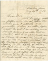 Letter from James A. Hall in Canton, Mississippi, to his brother, Tom, at the University of...