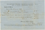 Receipt for the tuition of Laura Hall at Hamner Hall in Montgomery, Alabama.