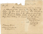 Letter from Colonel Joseph S. Sanchez in St. Augustine, Florida, to F. Weedon, mayor of St....