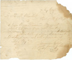 Bill of sale for three slaves bought by H. M. Weedon from H. G. Wright.