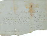 Letter from B. A. Putnam at Fort Jefferson in Florida, to H. M. Weedon.