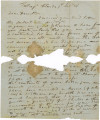 Letter from Frederick Weedon in Tortugas, Florida, to his son, Hamilton, in Albany, New York.