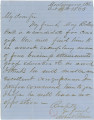 Letter from Albert Elmore in Montgomery, Alabama, to Parson W. Bush in Ozark.