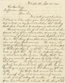Letter from Ben Fitzpatrick in Wetumpka, Alabama, to President Jefferson Davis.