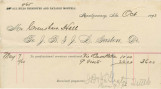 Invoice for money owed by Crenshaw Hall to Doctors J. B. and J. L. Gaston, for nine medical...