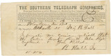 Telegram from Bolling Hall, Jr., in Atlanta, Georgia, to his father in Montgomery, Alabama.