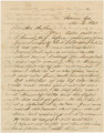 Letter from Bolling Hall, Jr., in Resaca, Georgia, to his father in Montgomery, Alabama.