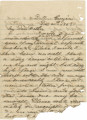 Letter from James A. Hall in Dalton, Georgia, to his father, Bolling, in Alabama.
