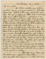 Letter from Crenshaw Hall near Dandridge, Tennessee, to his father, Bolling, in Alabama.