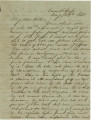 Letter from Bolling Hall, Jr., at the Cumberland Gap, to his father in Alabama.