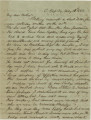 Letter from Crenshaw Hall at the Cumberland Gap in Kentucky, to his father, Bolling, in Alabama.