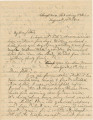 Letter from John E. Hall in camps near Strawberry Plains and London, Tennessee, to his father,...