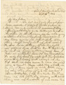 Letter from John E. Hall in camp near the Cumberland Gap, to his father, Bolling, in Alabama.
