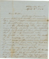 Letter from James A. Hall in Shelbyville, Tennessee, to his father, Bolling, in Alabama.