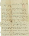 Letter from Leonidas Howard in Mulberry, Alabama, to Bolling Hall in Montgomery.
