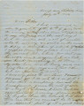 Letter from James A. Hall in Saltillo, Mississippi, to his father, Bolling, in Alabama.