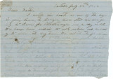 Letter from Thomas B. Hall in Saltillo, Mississippi, to his father, Bolling, in Alabama.