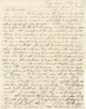 Letter from Newton N. Davis in the picket camp of the 4th Brigade, to his wife, Bettie, in...
